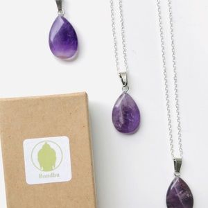Necklace Amethyst Sterling 925 chain necklace